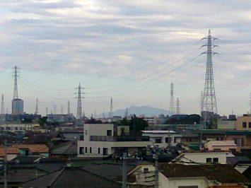 2016/11/09朝 舎人公園から筑波山