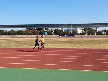 2017/01/11の舎人公園マラソン練習会①