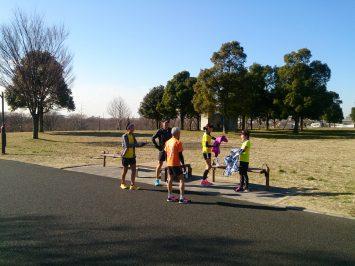 2017/01/18の舎人公園マラソン練習会②
