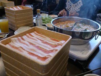 2017/02/15のランチはしゃぶしゃぶ食べ放題♪