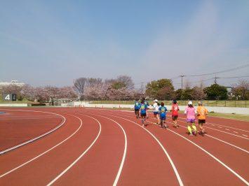 2017/04/05の颯走塾足立区舎人公園マラソン練習会1