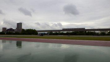 2017/05/10の雨あがりの舎人公園陸上競技場