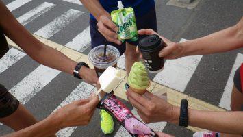 2017/05/24 マラソン練習の後のアイスは美味い2