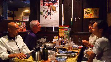 2017/10/15高島平ロードレース大会の後は定番となった笑笑で反省会