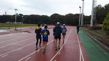 2017/10/25の颯走塾マラソン練習会in織田フィールド3