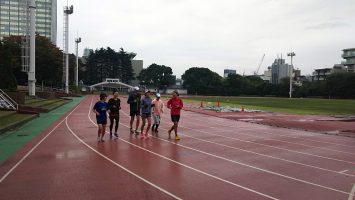 2017/10/25の颯走塾マラソン練習会in織田フィールド4