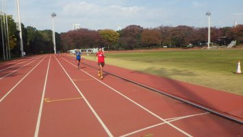 2017/11/15の颯走塾マラソン練習会in織田フィールド2