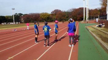 2017/11/22の颯走塾水曜マラソン練習会in織田フィールド1