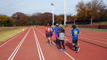 2017/11/22の颯走塾水曜マラソン練習会in織田フィールド2