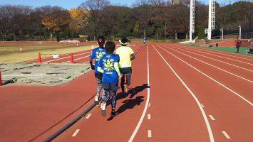 2017/12/06の颯走塾水曜マラソン練習会in織田フィールド3