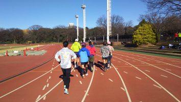 2017/12/13の颯走塾水曜マラソン練習会in織田フィールド1