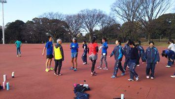 2017/12/20の颯走塾水曜マラソン練習会in織田フィールド2
