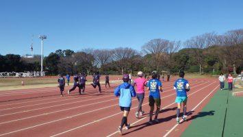 2017/12/13の颯走塾水曜マラソン練習会in織田フィールド5