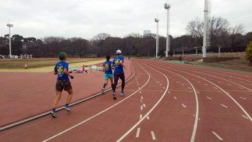 2018/01/17の颯走塾水曜マラソン練習会in織田フィールド2