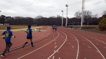 2018/01/17の颯走塾水曜マラソン練習会in織田フィールド5