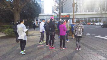 2018/02/07の颯走塾水曜マラソン練習会in皇居1