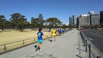 2018/02/07の颯走塾水曜マラソン練習会in皇居4