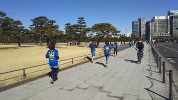 2018/02/07の颯走塾水曜マラソン練習会in皇居5