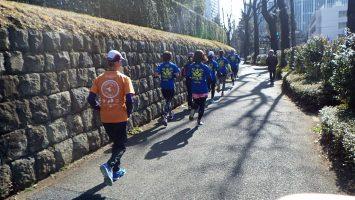 2018/01/31の颯走塾水曜マラソン練習会in東宮2