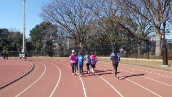 201/02/14の颯走塾水曜マラソン練習会in織田フィールド1