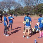 201/02/14の颯走塾水曜マラソン練習会in織田フィールド3