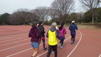2018/03/07の颯走塾水曜マラソン練習会in織田フィールド1
