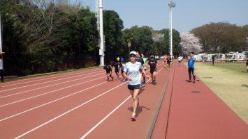 2018/03/28の颯走塾水曜マラソン練習会in織田フィールド3