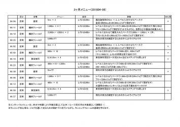 颯走塾水曜マラソン練習会201804-06期メニュー