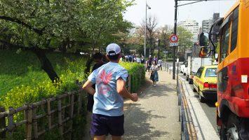 2018/04/04の颯走塾水曜マラソン練習会in皇居2