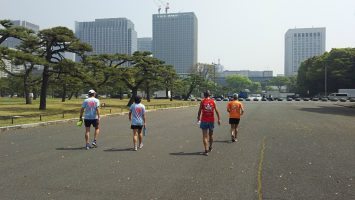 2018/04/04の颯走塾水曜マラソン練習会in皇居4