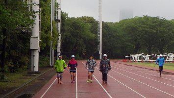 2018/04/18の颯走塾水曜マラソン練習会in織田フィールド1