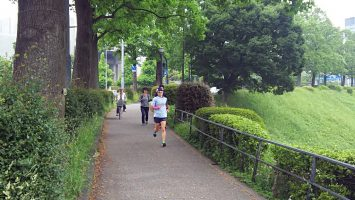 2018/05/02の颯走塾水曜マラソン練習会in皇居2