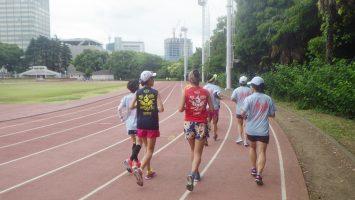 2018/05/23の颯走塾水曜マラソン練習会in織田フィールド1