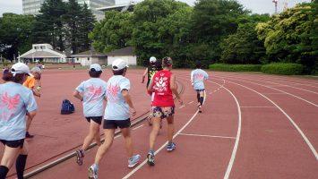 2018/05/23の颯走塾水曜マラソン練習会in織田フィールド3