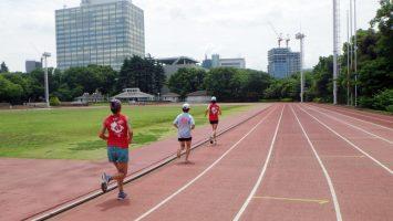 2018/06/13の颯走塾水曜マラソン練習会in織田フィールド3