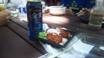 2018/06/27のランチはヤマザキで弁当買って代々木公園で