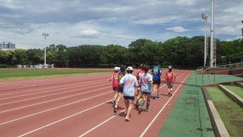 2018/06/27の颯走塾水曜マラソン練習会in織田フィールド1
