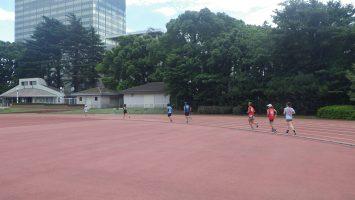 2018/06/27の颯走塾水曜マラソン練習会in織田フィールド3