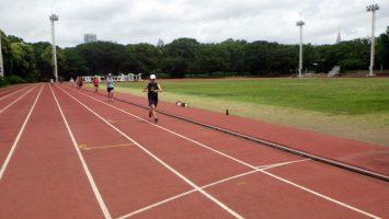 2018/07/04の颯走塾水曜マラソン練習会in織田フィールド2
