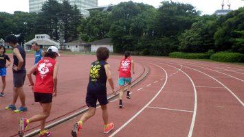 2018/07/04の颯走塾水曜マラソン練習会in織田フィールド3