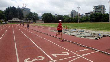 2018/07/04の颯走塾水曜マラソン練習会in織田フィールド6