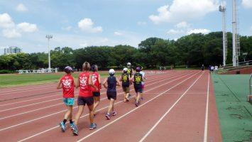 2018/07/11の颯走塾水曜マラソン練習会in織田フィールド1