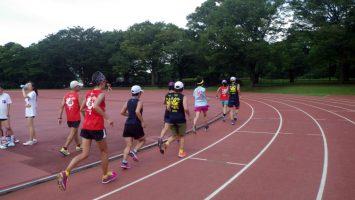 2018/07/11の颯走塾水曜マラソン練習会in織田フィールド6