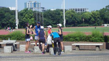 2018/08/01の颯走塾水曜マラソン練習会in織田フィールド1