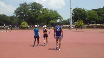 2018/08/01の颯走塾水曜マラソン練習会in織田フィールド6