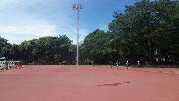 2018/08/15の颯走塾水曜マラソン練習会in織田フィールド3