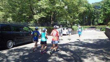 2018/08/22の颯走塾水曜マラソン練習会in織田フィールド1