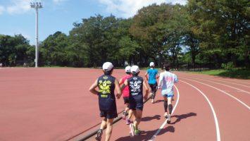 2018/09/19の颯走塾水曜マラソン練習会in織田フィールド3