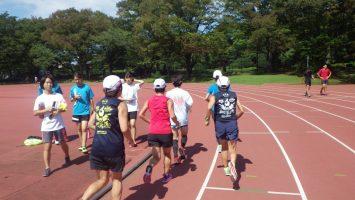 2018/09/19の颯走塾水曜マラソン練習会in織田フィールド5