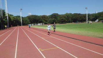 2018/09/19の颯走塾水曜マラソン練習会in織田フィールド6